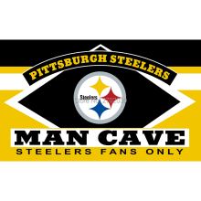 Pittsburgh Steelers Fans Only Flag MAN CAVE Banner Flag World Series Football Team 3ft X 5ft Banners Pittsburgh Steelers Flag(China)