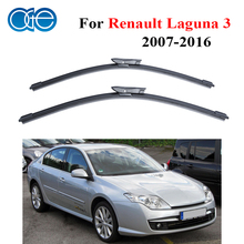 OGE Pair Wiper Blades For Renault Laguna 3 2007 Onwards Windshield Natural Rubber Wipers Auto Car Accessories Windscreen