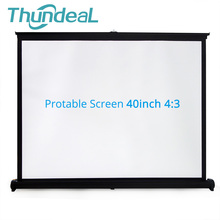 Express Edition Easy Carry 40 inch 4:3 Mini Portable Matte White Projection Projector Table Screen For Office Business Training(China)