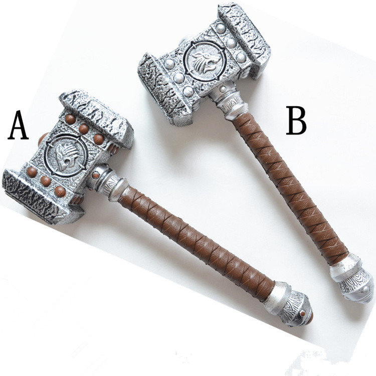 For World of Warcraft weapon model WOW Ogrim Doomhammer Hammer 1:1 scale Cosplay Toy PU&amp;Foam Model birthday gift for kids<br><br>Aliexpress