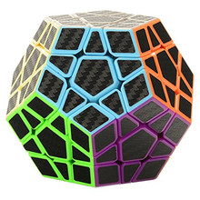 3x3 Megaminx Speed Cube Puzzle with Carbon Fiber Sticker Smooth Pentagonal Dodecahedron Puzzles Cube For Education Puzzle Toys