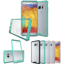 For Samsung Galaxy Note 7 New Shockproof Soft TPU Frame+Acrylic Back Clear Case Hard Cover For Samsung Galaxy Note FE (SM-N935)(China)