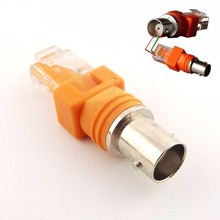 1pcs BNC Female to RJ45 Male Coaxial Coax Barrel Coupler Adapter RJ45 to RF Connector