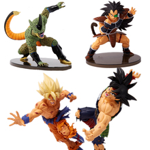 4style Dragon Ball Z Super Saiyan Goku Son Cell Raditz Ultimate Form Anime Combat Edition PVC Action Figure Collectible Toys #FB(China)