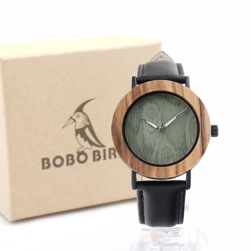 BOBO BIRD E23 Mens Fashion Causal White Green Wood Dial with Bezel Ring Watch Japan Quartz Movement Wrist Watch<br><br>Aliexpress