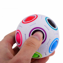HOT Spherical Cube Rainbow Ball Football Magic Speed Cube Puzzle Children's Educational Toys Cubes GMF for baby