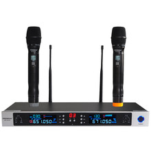 Freeboss AR-8240 UHF Wireless Microphone System Dual Channel IR Frequency Wireless Mic Karoke KTV Party UHF Dynamic Microphone(China)