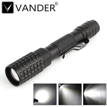 1 pcs Black NEW MINI 500lm XM-L T6 led Waterproof zoom Torch Zoomable LED Flashlight Torch light Lamp For 2x18650