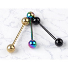 10Pcs/Pack Fashion Design Body Jewelry 3 Color Stainless Steel Ball Barbell Bars Tongue Piercing Rings for Women Body Jewelry