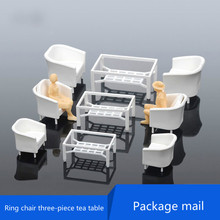 DIY sand table model of building materials decoration indoor scene model table 3 suit ring chair plastic model kits(China)