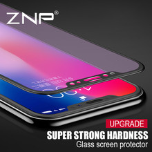 Buy ZNP 4D Curved 9H Tempered Glass iPhone 10 X Screen Protector Full Cover iPhone X 10 Tempered Glass Protective film for $4.24 in AliExpress store