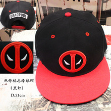 New version deadpool Cosplay Hat Adjustable Casual Sport Snapback Fashion Outdoor Hat Men Golf Black Red action figure Plush