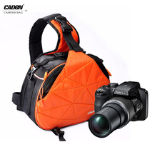 Caden sling camera bag for nikon black waterproof fashion dslr camera case for sony outdoor shoulder camera video bags for canon(China)