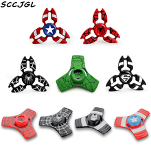New Super Hero Hand EDC Fidget Metal spinner Captain America Ironman Spiner Spiderman For Autismand Anxiety Adults Puzzle Toys