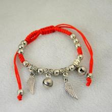 Women Angel Wing Elephant Bangles Fashion Jewelry Thin Red Thread String Rope Charm Bracelets Retail And Drop Shipping