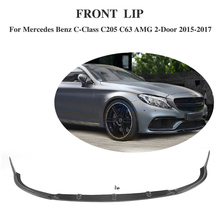 Buy Carbon Fiber Car Racing Front Bumper Lip Mercedes-Benz C Class C205 C63 AMG Coupe 2 Door 2015-2017 Car Accessories for $494.30 in AliExpress store