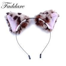1pcs Lovely Girl Lady Fur Cat Fox Ears Headband Party Cosplay Costume Headwear