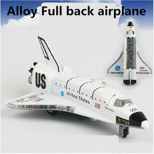 2015 Space Shuttle models,1:43 alloy Pull back Airplane model Toy Vehicles , Diecasts Airplanes toys, free shipping