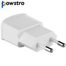Powstro USB Charger Adapter 5V 1A Fast Portable Charger Wall EU Plug Travel Phone Chargers For iPhone Samsung iPad Mobile Device(China)