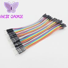 Free shipping,40pcs/lot 10cm 2.54mm 1pin Male to Male jumper wire Dupont cable Dupont line