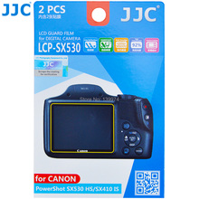 JJC 2Kits Anti-smudge reflecting scratch High transmission LCD Guard Film Screen Protector for Canon PowerShot SX530 HS SX410 IS