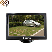 2 Ways Video Input 5 Inch TFT LCD Display 480 x 240 Definition Digital Panel Color Car Parking Monitor For Rear view Camera