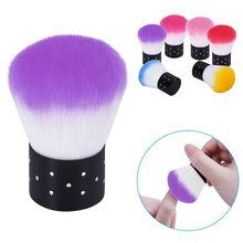 HNM 1pcs Soft Nail Cleaning Brush Nail Brush Nail Art Manicure Tools Nail Dust Cleaner For Acrylic & UV Gel 6 Colors(China)