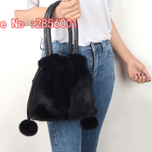 Jiamei Li Di 17 years new mink whole skin making handbag, leather grass oblique cross package, ladies leisure package