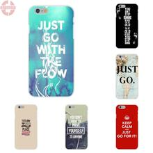 EJGROUP Just Go For It Soft Silicon Cases For iPhone X 8 7 6 6s Plus 5 5s SE 5C 4 4S Case Birthday Christmas Gift(China)
