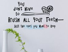 Sale Stickers Wall Decor Poster You Don't Have To Brush All Your Teeth English Sticker Teach Children Learning Decal Room