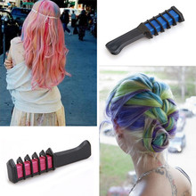 Popular Semi Permanent Disposable Hair Color Chalk Powder With Comb High Quality Temporary Blue Hair Mascara Multicolor Dye