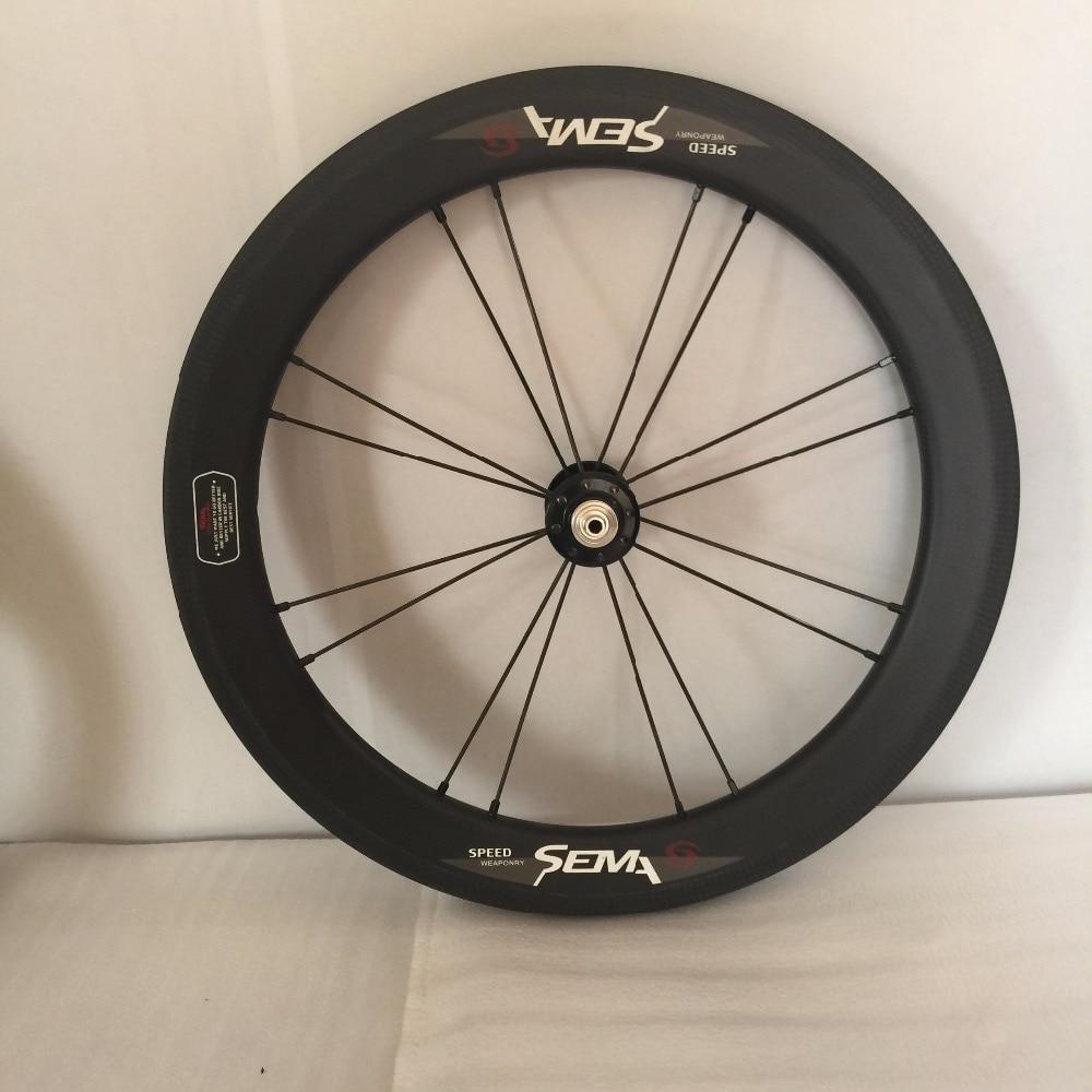 SEMA 16inch349 carbon wheelset hubsmith 3K matte (14)