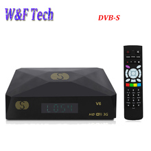 S-V6 Mini Digital Satellite Receiver S V6 with AV HD output 2xUSB DVB-S WEB TV Biss Key Youporn CCCAMD same as openbox v6s(China)