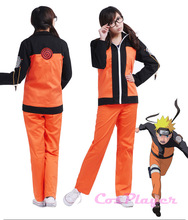 Naruto Uchiha Sasuke Cosplay Party Costumes New Fashion Japanese Cartoon Uzumaki Naruto Cosplay Costumes Anime Top+Pants Outfit(China)
