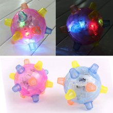 Details about  Jumping Joggle Bopper LED Light Up Bouncing Vibrating Sound Sensitive Ball Toy E