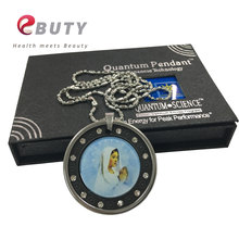 EBUTY Virgin Maria Pendants Quantum Health Jewelry Pendant with Stainless Steel Protector & Chain(China)
