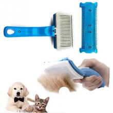 2016 Pet Cat Dog Brush Self Cleaning Grooming Brush Hair Shedding Comb Trimmer