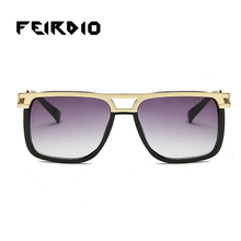 Feirdio Unique Women'S Men'S Sun Glass Sports Goggles Vintage Colorful Square Oculos Gafas Mirrors Night Driving Driving Fishing(China)