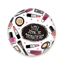 100 Pcs/lot Makeup Mirror Small Pocket Mirror Hand Makeup Compact Mirror Portable Round Hand Mirrors Makeup Cosmetic Beauty Tool