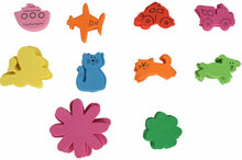 50PCS(1bag)/LOT.vehicle animal flower foam stickers,Kids toy.Scrapbooking kit.Early educational DIY.Cheap.kindergarten craft(China)