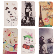 AIYINGE Flip protection PU Leather Cell phone Accessory Cartoon Wallet Card Holder Painted Case For Pantech Vega Iron 2