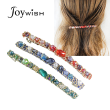 Joywish 2017  Fashion Hair Jewelry Blue Green Red Color Beads Barrettes Hairwear For Women Fashion Designer
