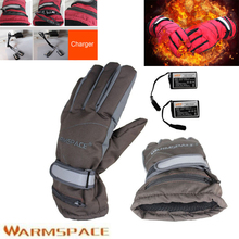 1 Pair 2000mAh Rechargeable Battery Outdoor Electric Heated Winter Warmer Golve Work Ski Motorcycle Bicycle Cycling Gloves
