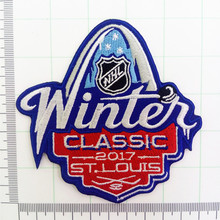 2017 NHL Winter Classic Jersey Patch St. Louis Blues vs Chicago Blackhawks Iron on or Sew on Embroidered patch(China)