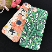 EKONE Matte Rubber Case For iPhone 7 7Plus 6 6S 6Plus Case Banana Leaves Daisy Flamingo Plastic Cover For iPhone 7 Plus Case