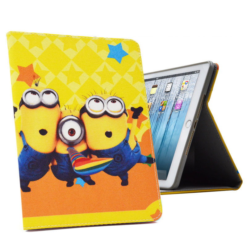 Cartoon Case For Funda iPad 4 Cover Color Painting PU Leather Shockproof Smart Case+Silicon Back Cover for iPad  2/3/4 Capa Para<br><br>Aliexpress