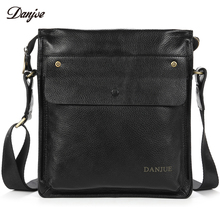 DANJUE Men Messenger Bag Genuine Leather Male Crossbody Bag For Business Waterproof Carry Everyday Objects Daily Bag(China)