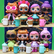 Original mga lol doll DIY kids toy doll . With clothes and shoes, each doll has a milk bottle (China)