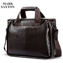 2017 New Fashion cowhide male commercial briefcase /Real Leather vintage men's messenger bag/casual Natural Cowskin Business bag(China)