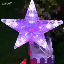 ZINUO8 Modes Flash RGB 20CM Big Star Light Waterproof Fairy LED String Lights AC110V-220V For Christmas Party Wedding Decoration(China)